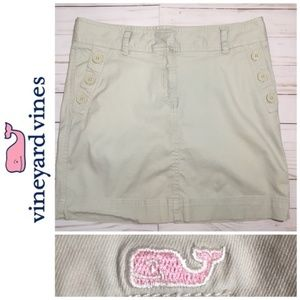 Vineyard Vines Light Khaki Skirt Pink Whale Size 6